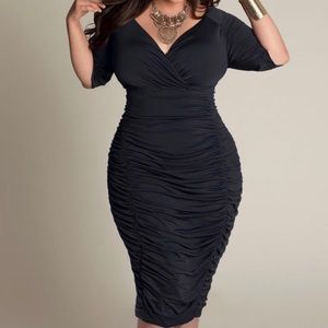 """Envy Me"" Midi Elegant Black Dress"